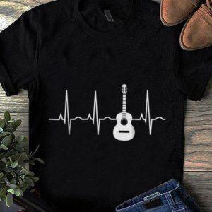 Top Acoustic Guitar Heartbeat Musician shirt