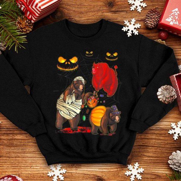 Top Bear Happy Halloween Cute Mummy Witch Pumpkin shirt