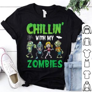 Top Chillin With My Zombies Funny Halloween Zombie Costume shirt