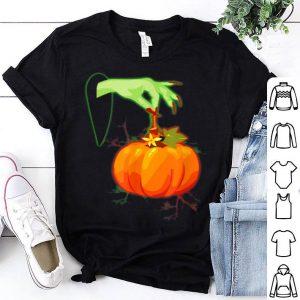 Top Halloween Witch - Witch's Hand Pumpkin Halloween shirt