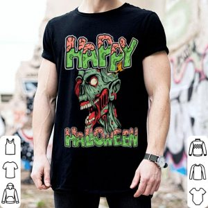 Top Happy Halloween Zombie Cartoon Funny shirt