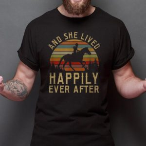 Top Horse And She Lived Happily Ever After Vintage shirt