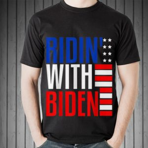 Top Joe Biden Riden With President 2020 Election Riding With Biden American Flag guy tee