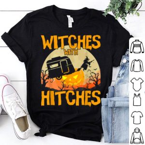 Top Witches with Hitches Halloween Camping T Shirts Kids Gifts shirt