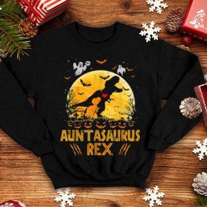 Auntasaurus Rex Moon Halloween Family Matching Gift shirt