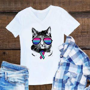 Awesome Cat Thyroid Cancer Awareness Sunglass shirt