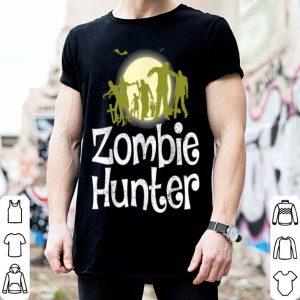 Awesome Halloween Zombie Hunter Bat Funny Men Kids Boys shirt