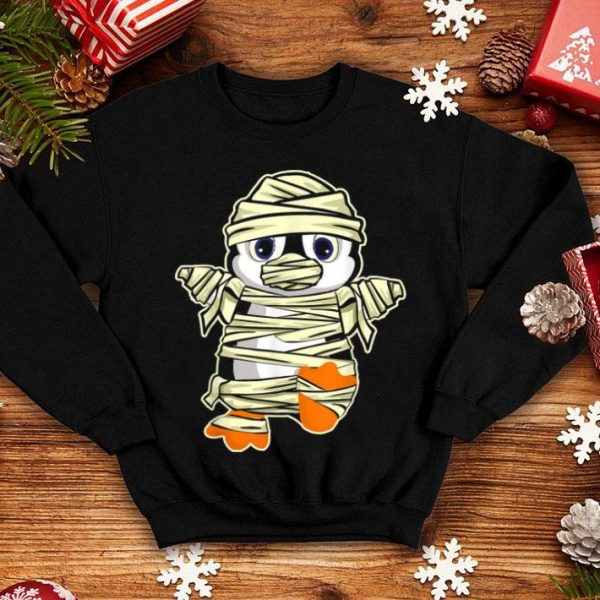 Awesome Mummy Penguin Cute Funny Halloween For Kids Boys Girls shirt