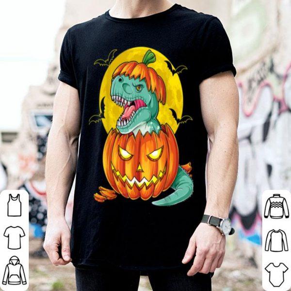 Beautiful Dinosaur Pumpkin Funny Halloween Gift Men Pumpkasaurus T Rex shirt
