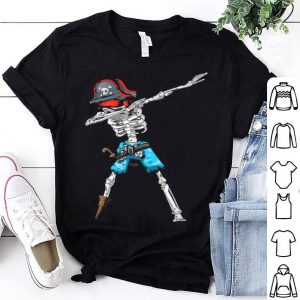 Beautiful Kids Dabbing Skeleton Pirate Halloween shirt