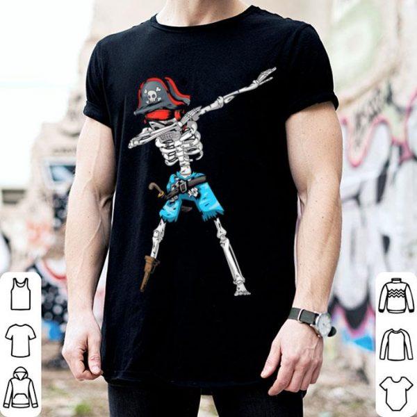 Beautiful Kids Dabbing Skeleton Pirate Halloween shirt
