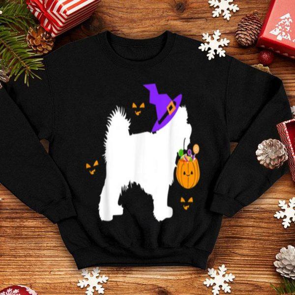 Beautiful Maltese Halloween Costume Outfit Pumpkin Dog Cute Pet shirt