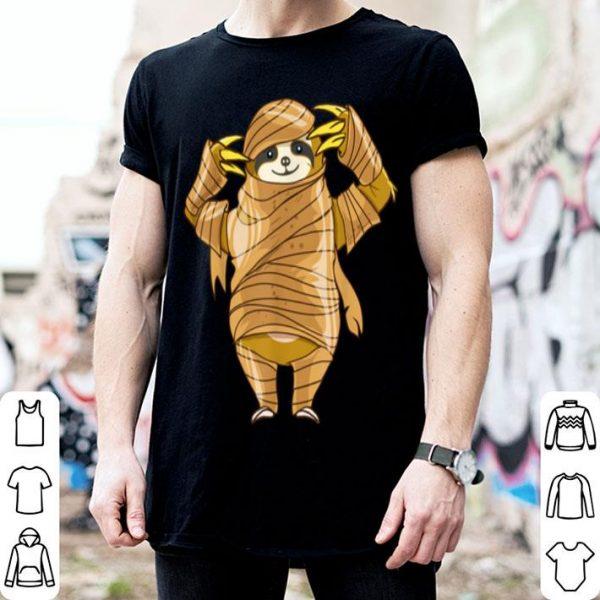 Beautiful Mummy Sloth Funny Halloween Horror Scary Costume shirt