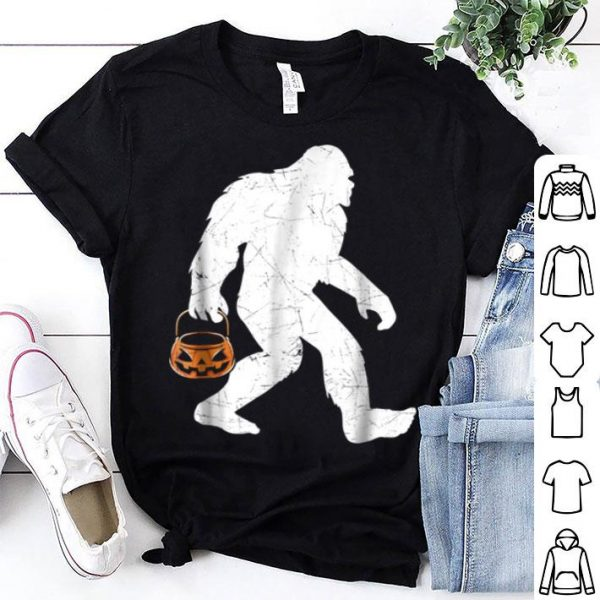 Bigfoot Pumpkin Halloween Costume Funny shirt