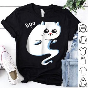 Cute Ghost Cat - Boo Kitty Cat Halloween shirt