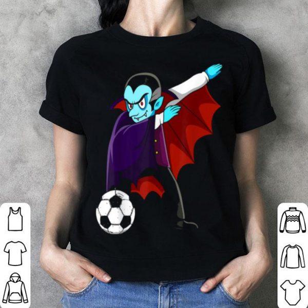 Dabbing Dracula Soccer Halloween Costume Football Boys Girls shirt