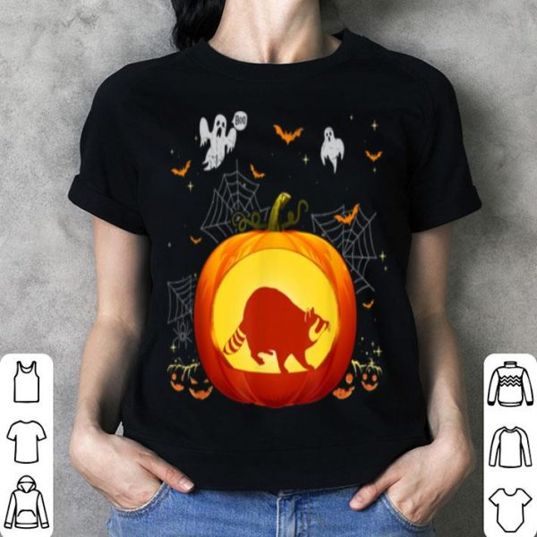 Funny Raccoon Halloween Pumpkin Costume Cute Outfit shirt