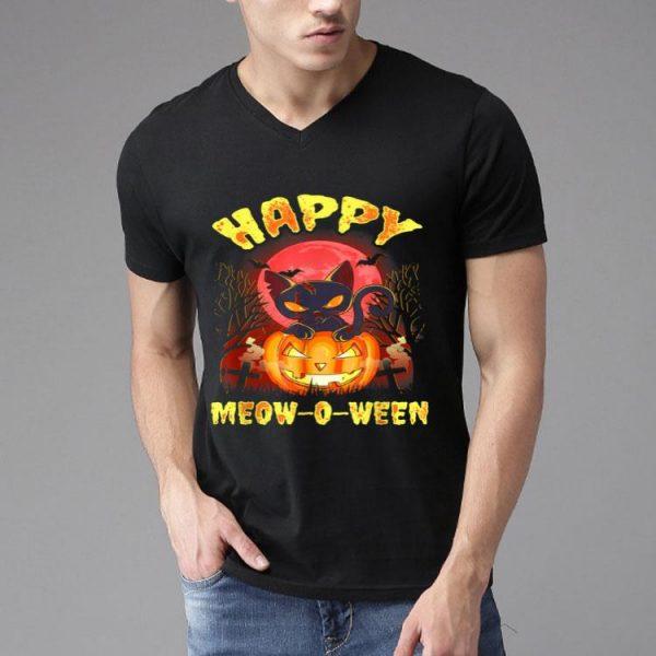 Halloween Cat Zombie Jack O Lantern Happy Meow-o-ween Kitten shirt