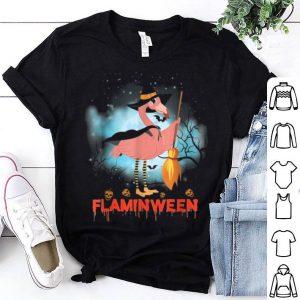 Halloween Custome Flamingo Flaminween Pumpkins Skull shirt