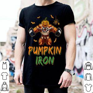 Halloween Gym Workout Pumpkin Iron Motivation For Men shirt