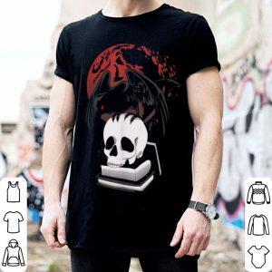 Halloween Skull And Crow Evil Black Bird Dark Occult shirt