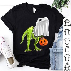 Halloween T Rex Dinosaur Ghost Trick Or Treat Kids shirt