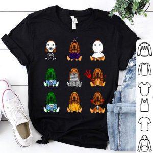 Hot Basset Hound Dog Lover Halloween Basset Hound shirt