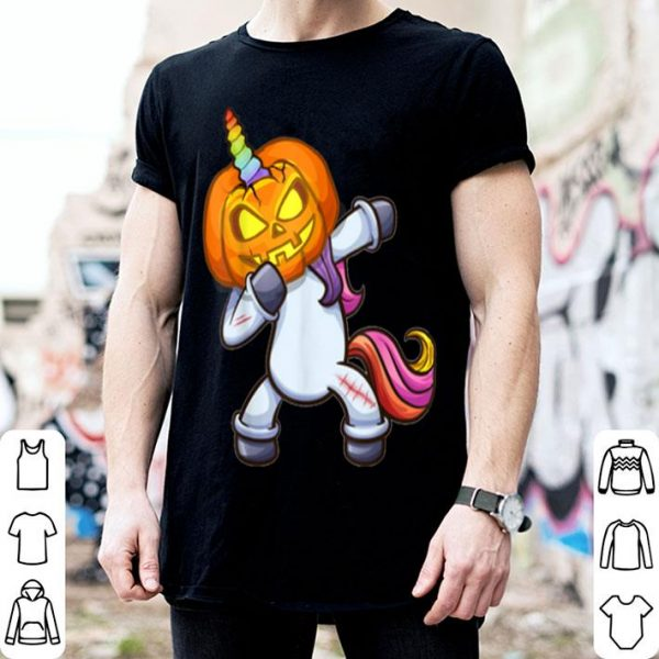 Nice Awesome Dabbing pumpkin Sistercorn for Girl Women shirt