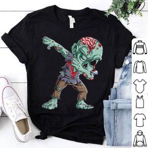 Nice Dabbing Zombie Halloween Boys Kids Dab Funny Zombies shirt