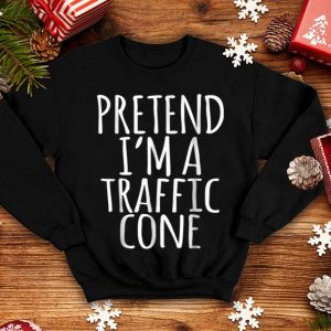 Official Lazy Funny Halloween Costume - Orange Traffic Cone Tee shirt