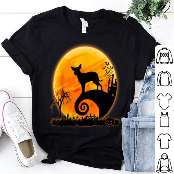 Official Mexican Hairless Dog And Moon Funny Halloween Costume Gift shirt