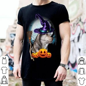 Original Husky Witch Hat Dog Halloween Costume Gift Funny Dog Lovers shirt