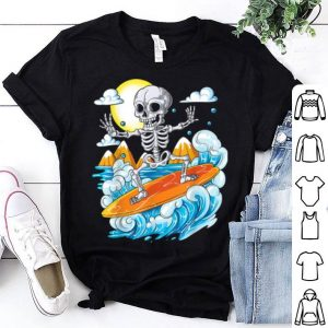 Original Skeleton Surfing Halloween Hawaii Hawaiian Men Surfer shirt