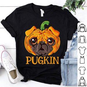 Pugkin Pug Pumpkin Halloween Kids Boys Thanksgiving shirt