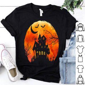 Spooky Haunted House Creepy Full Moon Halloween shirt
