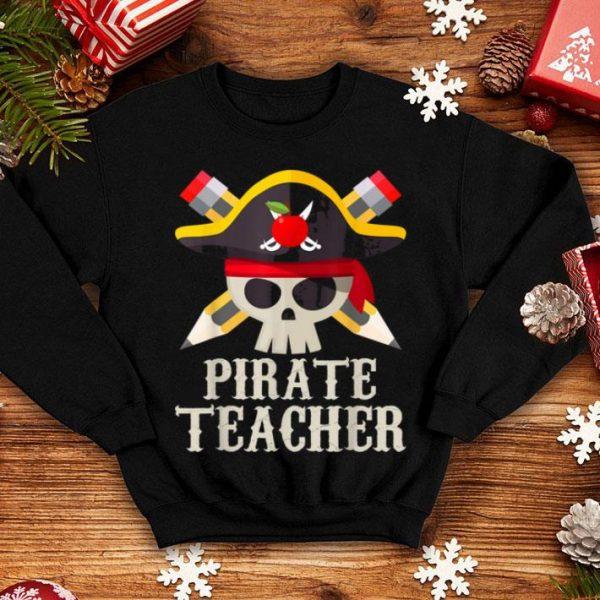 Top Pirate Teacher For Halloween Costume Gift shirt