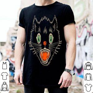 Vintage Halloween Scary Black Cat Horror shirt