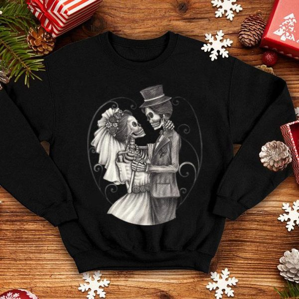Wedding Day Of The Dead Halloween Funny Dia De Los Muertos shirt