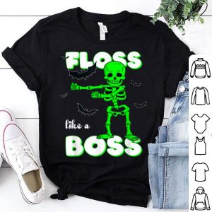 Awesome Floss Like A Boss Skeleton Halloween Boys Girls Kids shirt