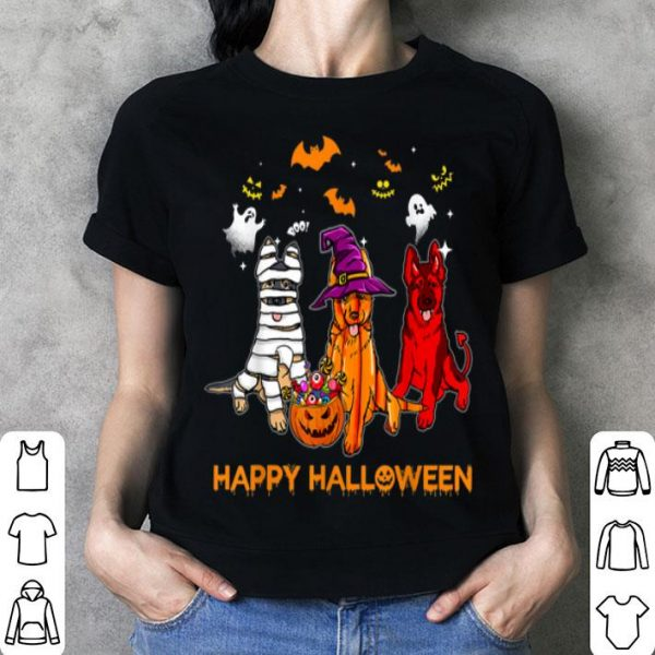 Awesome Happy Halloween German Shepherd Gift Pumpkin Mummy shirt