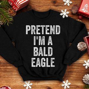Awesome Lazy Halloween Costume Gift Pretend I'm A Bald Eagle shirt