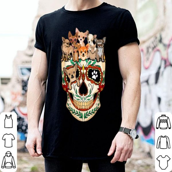 Beautiful Chihuahua Sugar Skull Funny Dog Skull Halloween Gift shirt