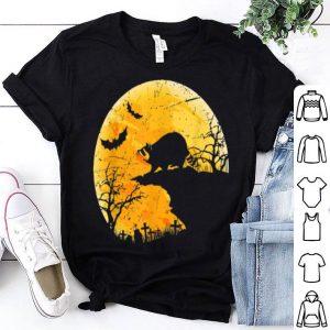 Beautiful Moon Halloween Raccoon Funny Costume Gift For Animal Lover shirt