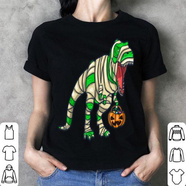 Beautiful Scary Mummy Dinosaur T Rex Pumpkin bag Boys Funny Halloween shirt