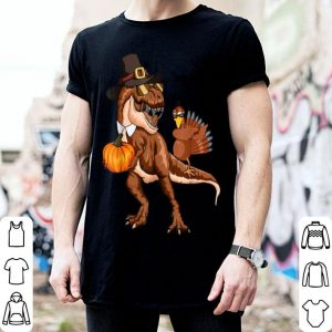 Beautiful T-rex Pumpkin Dabbing Turkey Thanksgiving Family Gifts shirt
