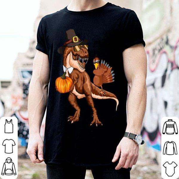Beautiful T-rex Pumpkin Dabbing Turkey Thanksgiving Family Gifts shirt