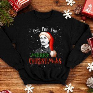 Funny Funny Santa Hat Edgar Allan Poe - Poe Christmas shirt