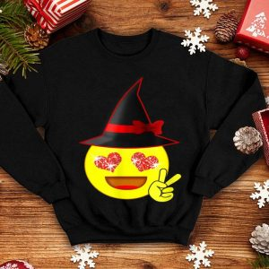 Funny Halloween Witch Emoji Peace Sign for Kids & Adults shirt