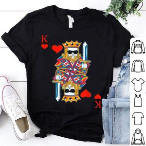 Funny King of Hearts Costume Halloween Deck of Cards shirt