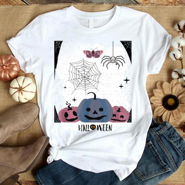 Funny Pumpkin Ghost Spider Skull Halloween Gift Tee Shirt